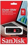 Sandisk Cruzer Glide™ 16GB USB 3.0 Black/Red (SDCZ600-016G-G35)