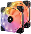 CORSAIR HD140 RGB LED High Performance 140mm PWM Fan — Twin Pack with Controller (CO-9050069-WW)