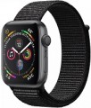 Apple Series 4 GPS, 40mm Space Grey Aluminium Case with Black Sport Band, MU662VN/A