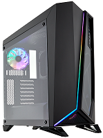 Corsair Carbide Series SPEC-OMEGA RGB Mid-Tower Tempered Glass Gaming Case — Black  (CC-9011140-WW)