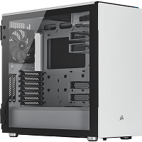 Corsair Carbide Series 678C Low Noise Tempered Glass ATX Case — White  (CC-9011170-WW)