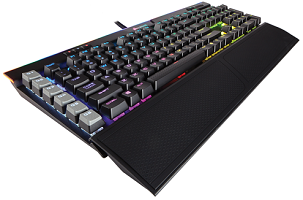 CORSAIR K95 RGB PLATINUM Mechanical Gaming Keyboard — CHERRY® MX Speed — Black (CH-9127014-NA)