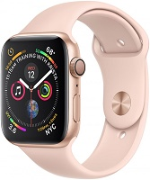 Apple Series 4 GPS, 44mm Gold Aluminium Case with Pink Sand Sport Band, MU6F2VN/A
