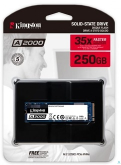 Kingston SSD PCIe NVMe A2000 250GB (SA2000M8/250G)